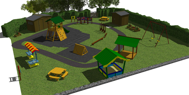Artwork of outdoor play area